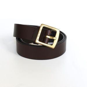 Coach Italy Dark Brown Leather Belt